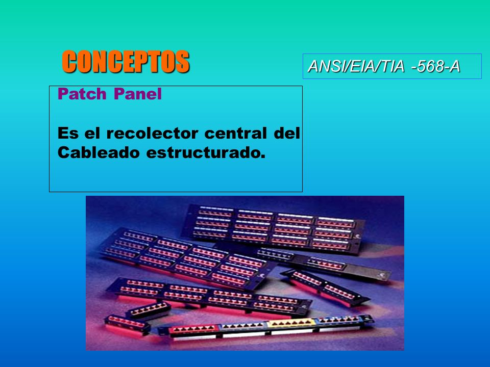 CONCEPTOS ANSI/EIA/TIA -568-A Patch Panel