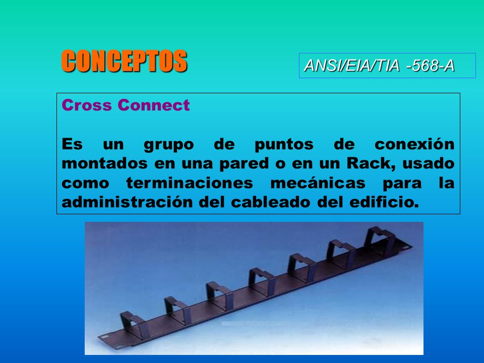 CONCEPTOS ANSI/EIA/TIA -568-A Cross Connect