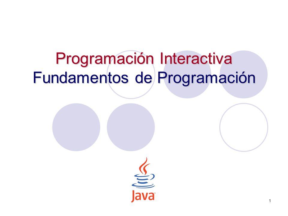 Programación Interactiva Fundamentos de Programación
