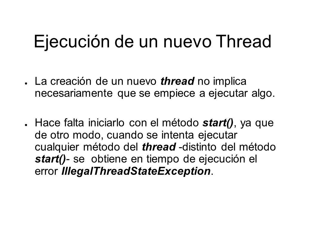 Ejecución de un nuevo Thread