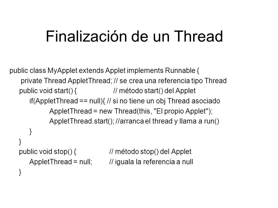 Finalización de un Thread