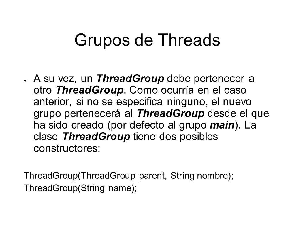 Grupos de Threads