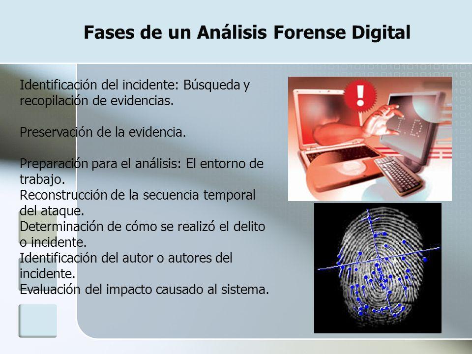 Fases de un Análisis Forense Digital