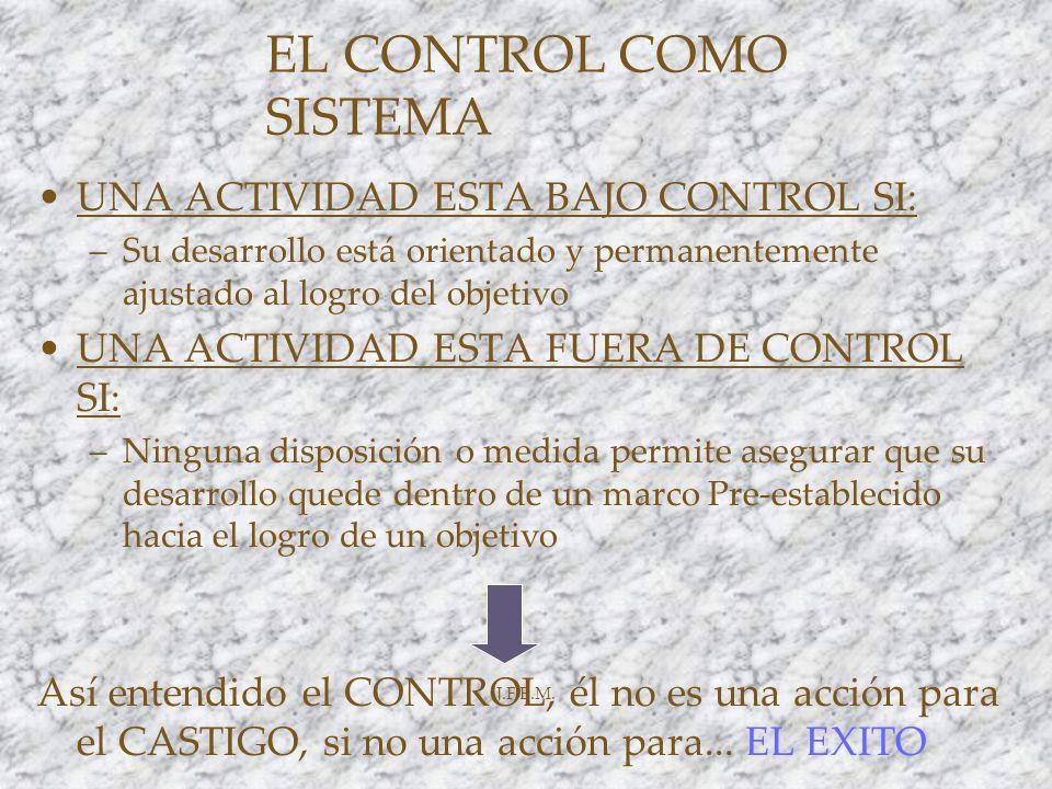 EL CONTROL COMO SISTEMA
