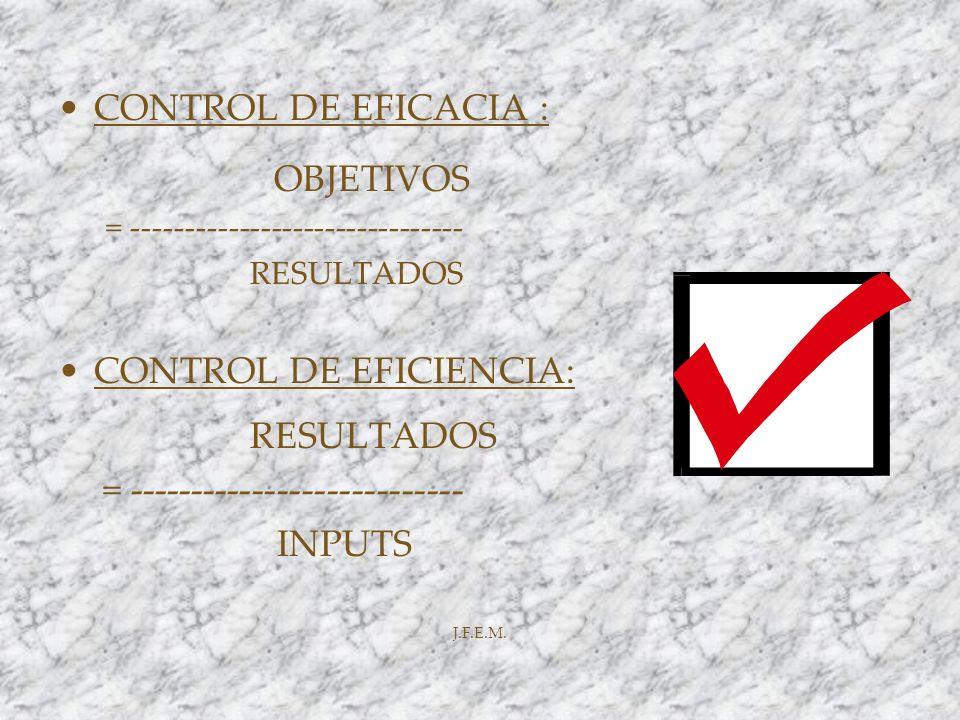 CONTROL DE EFICIENCIA: