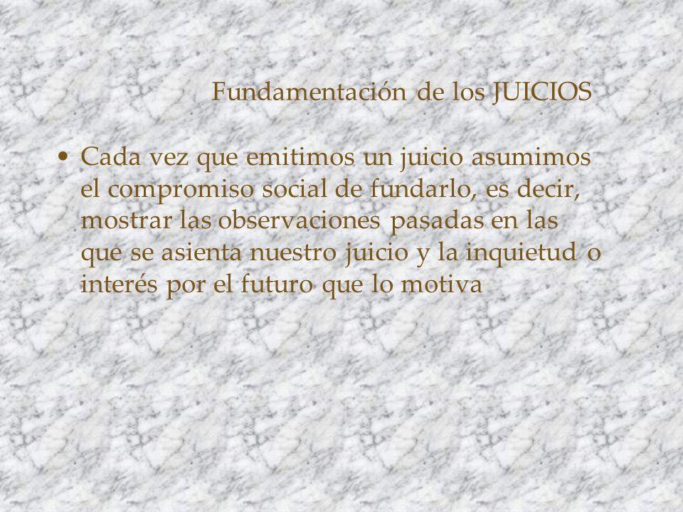 Fundamentación de los JUICIOS