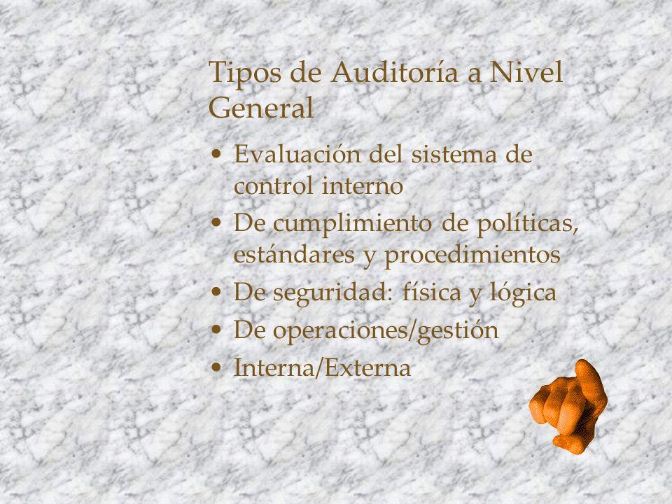 Tipos de Auditoría a Nivel General