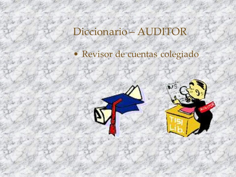 Diccionario – AUDITOR Revisor de cuentas colegiado
