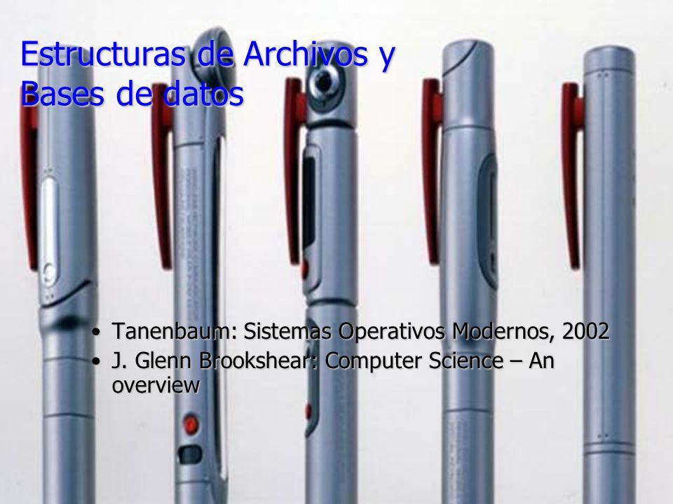 Estructuras de Archivos y Bases de datos