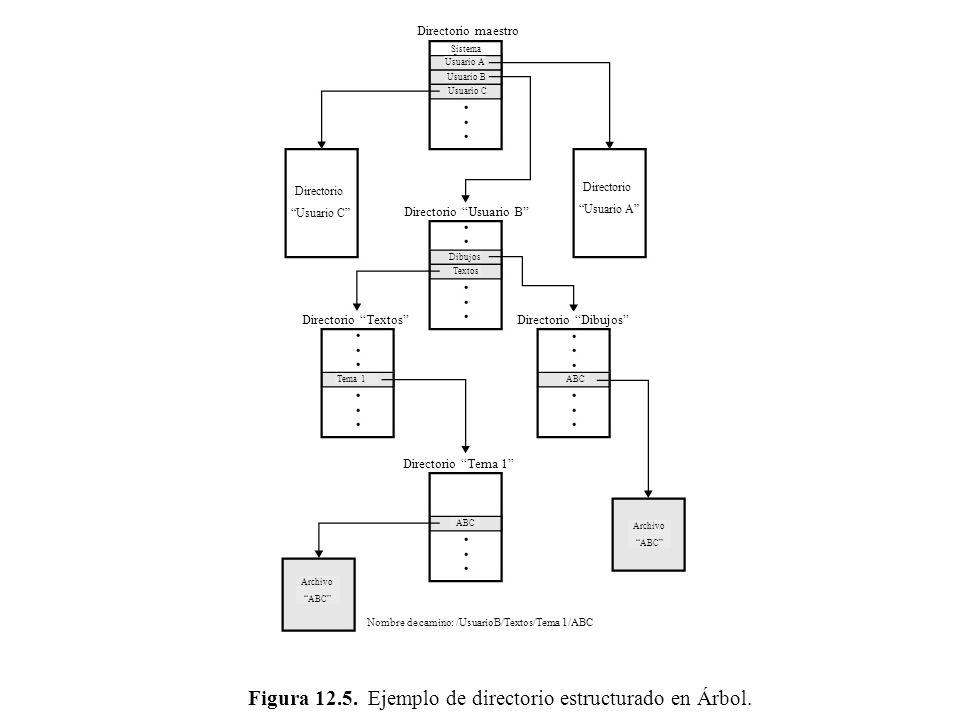 Figura 12.5. Ejemplo de directorio estructurado en Árbol.