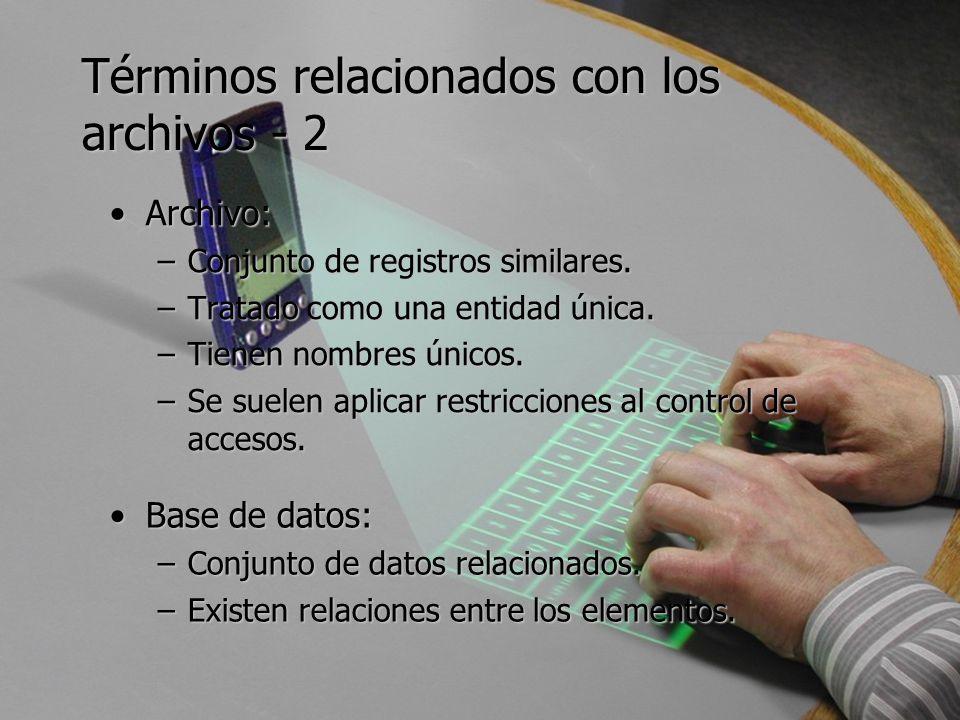 Términos relacionados con los archivos - 2