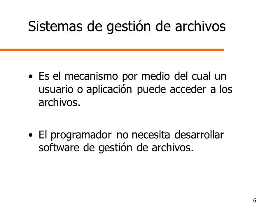 Sistemas de gestión de archivos