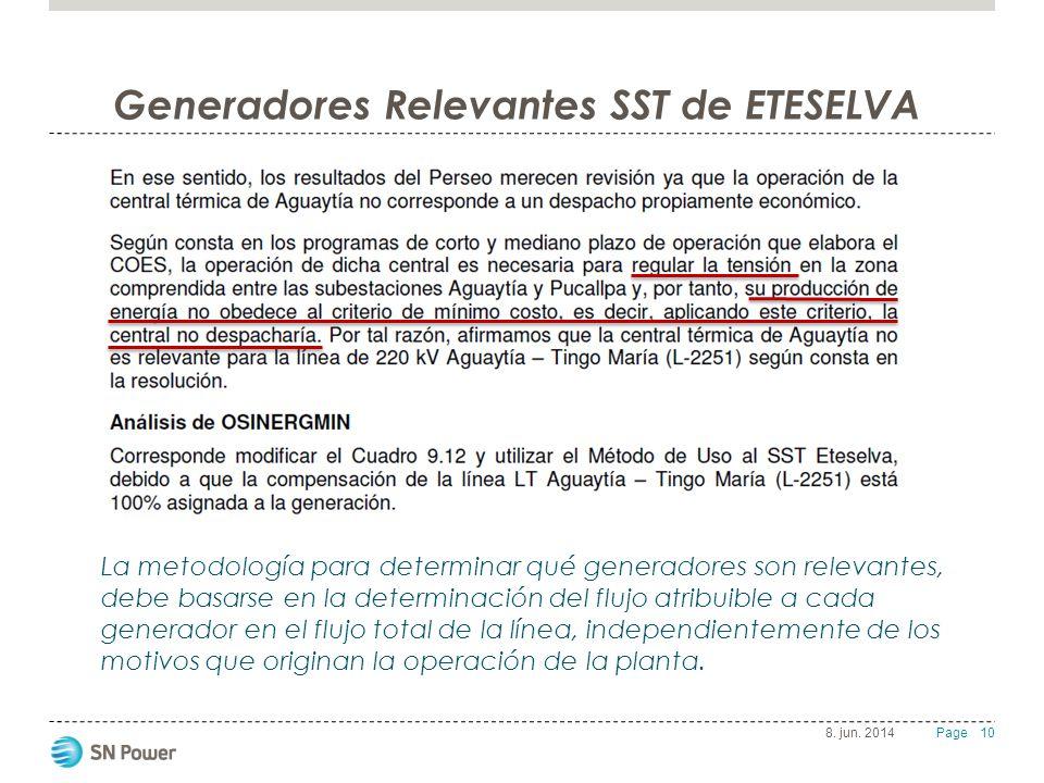Generadores Relevantes SST de ETESELVA