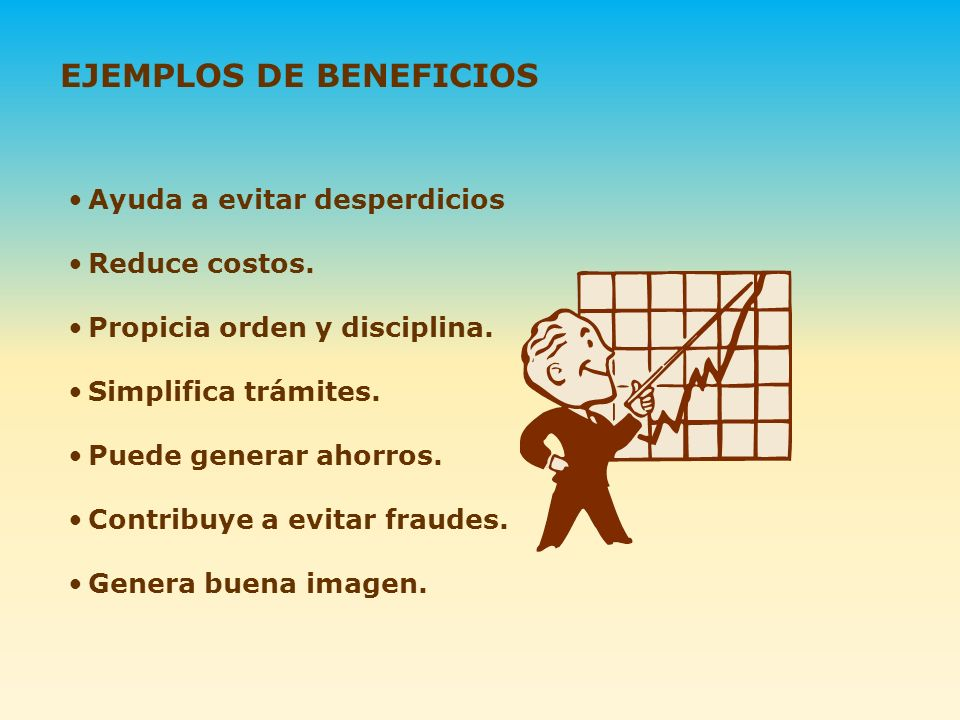 EJEMPLOS DE BENEFICIOS