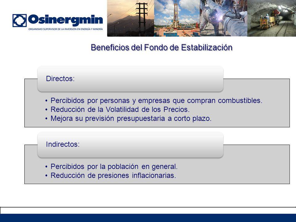 Beneficios del Fondo de Estabilización