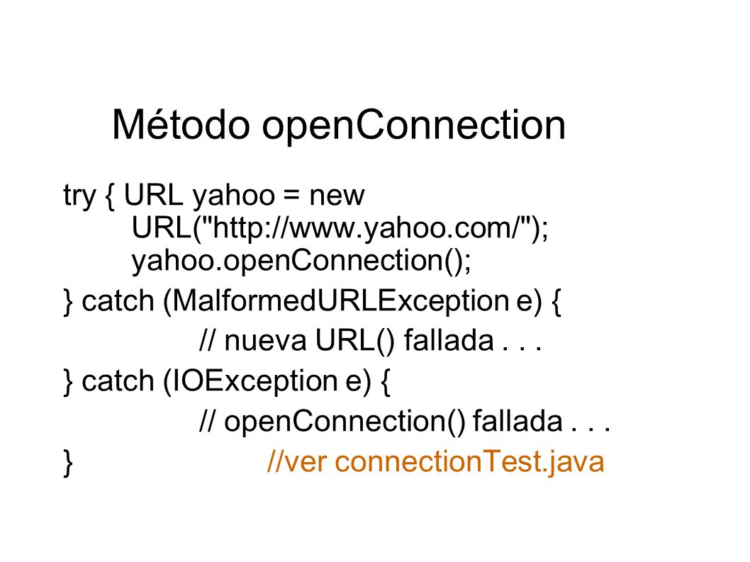 Método openConnection