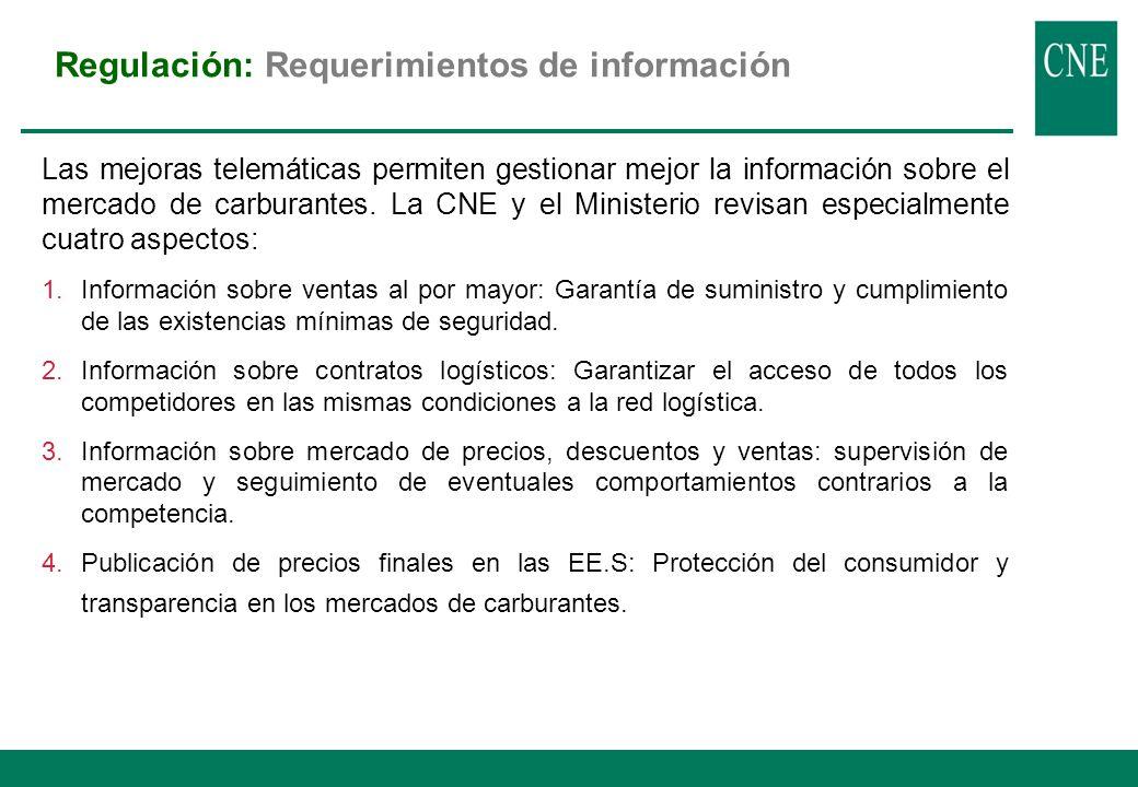 Regulación: Especificaciones gasolinas/gasóleos UE