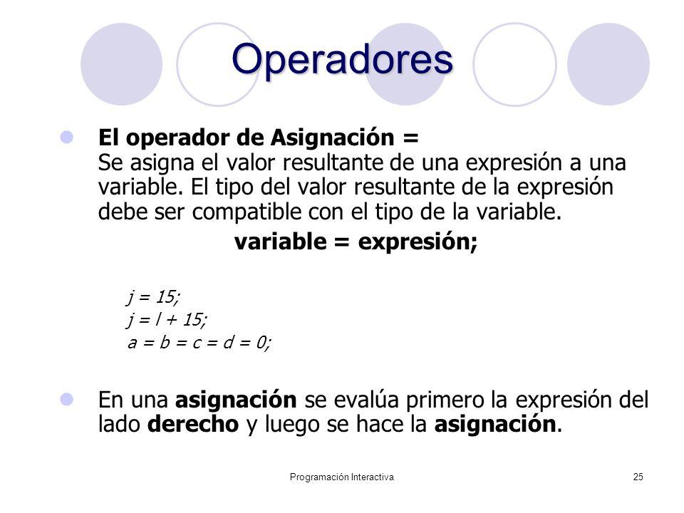 Programación Interactiva