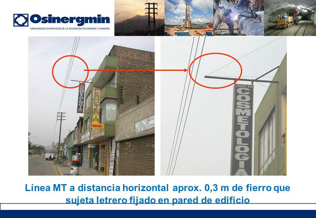 Línea MT a distancia horizontal aprox