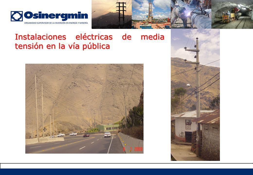 Instalaciones eléctricas de media tensión en la vía pública