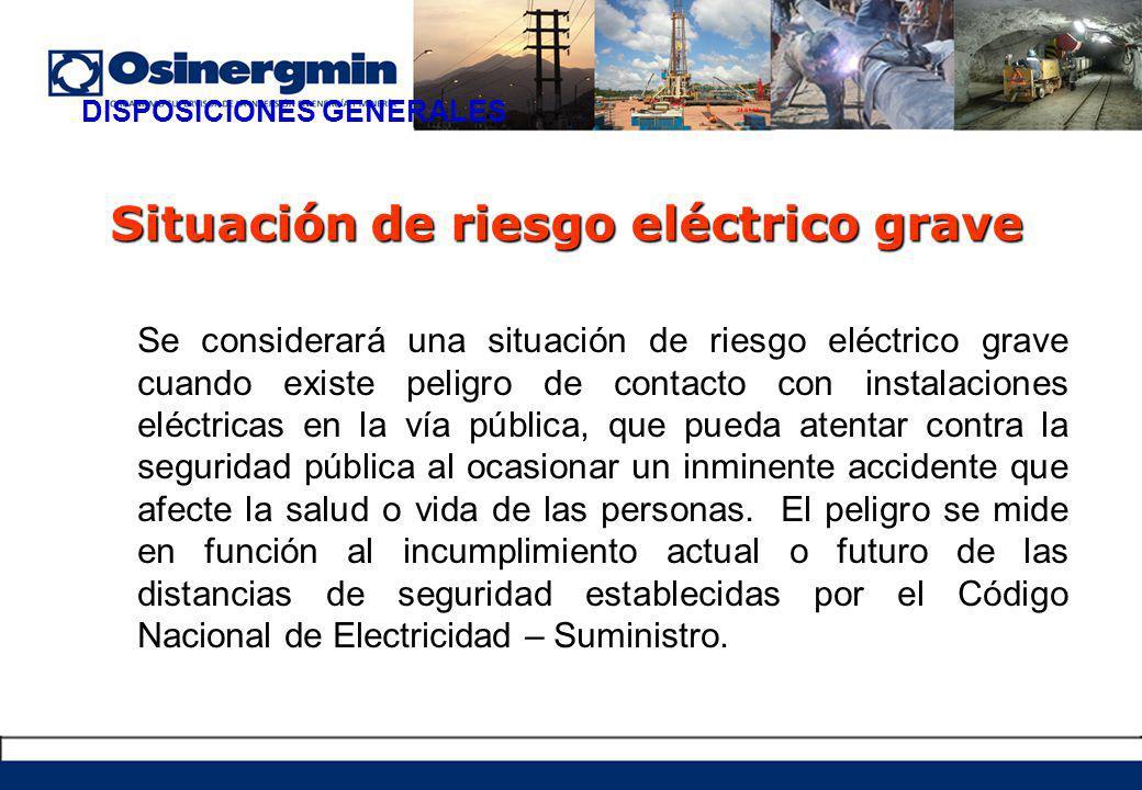 Situación de riesgo eléctrico grave