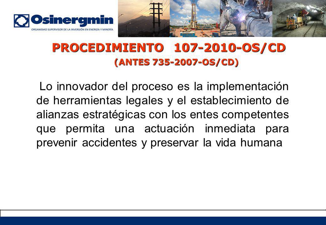 PROCEDIMIENTO 107-2010-OS/CD (ANTES 735-2007-OS/CD)