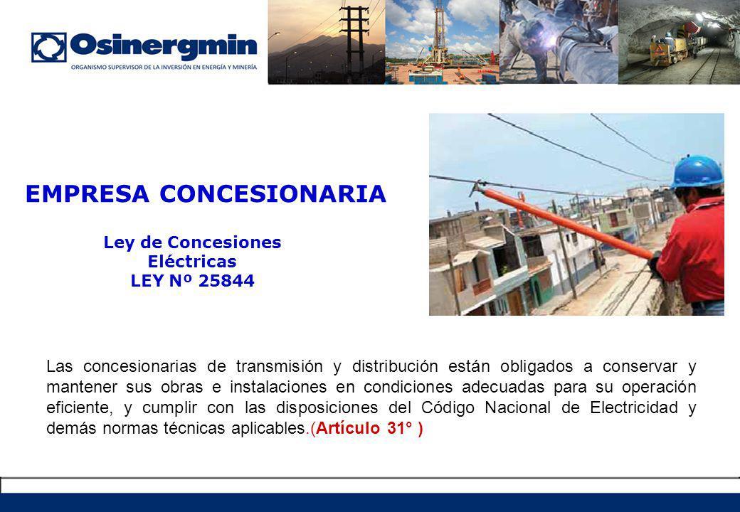 Ley de Concesiones Eléctricas LEY Nº 25844