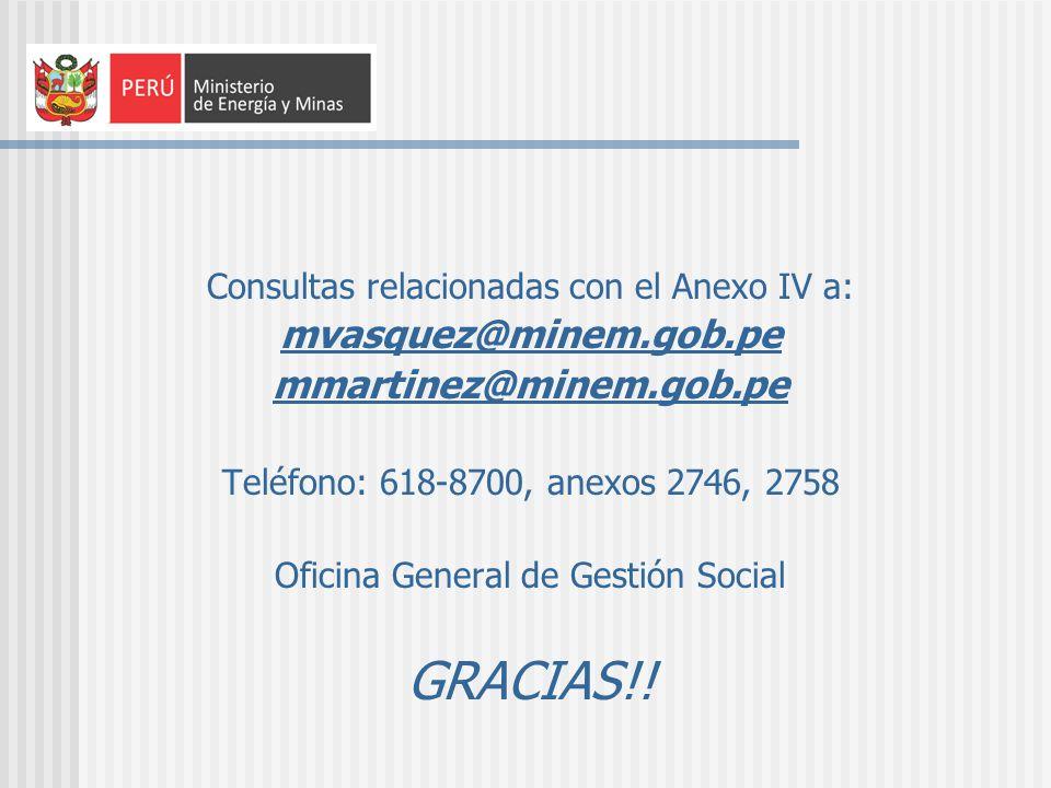 GRACIAS!! mvasquez@minem.gob.pe mmartinez@minem.gob.pe