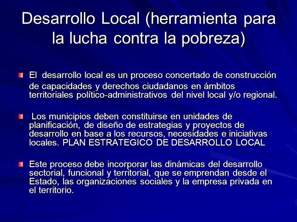 Desarrollo Local (herramienta para la lucha contra la pobreza)