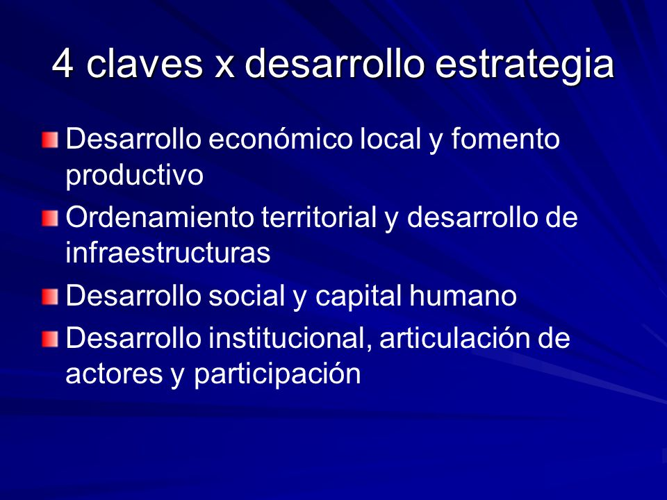 4 claves x desarrollo estrategia