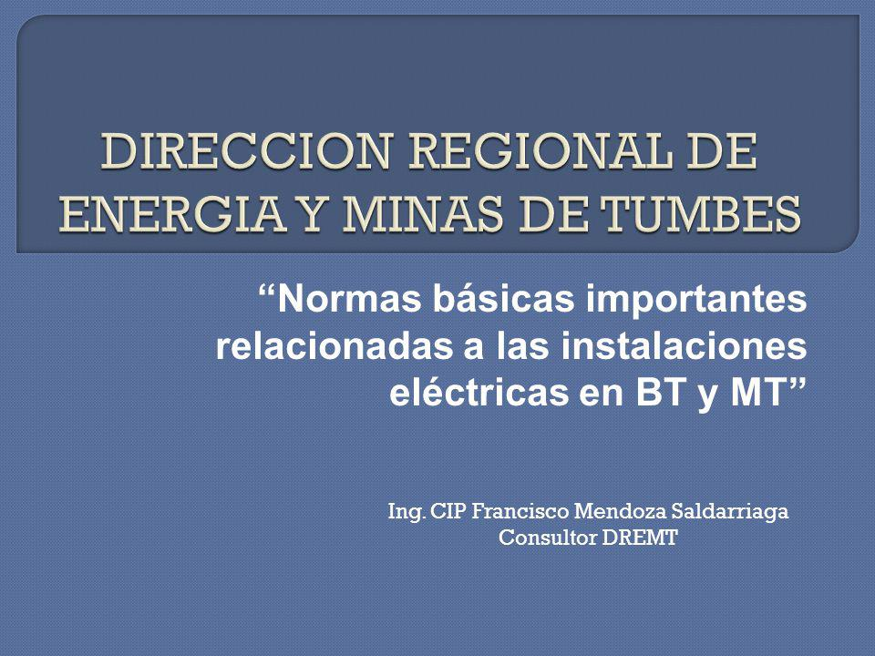 DIRECCION REGIONAL DE ENERGIA Y MINAS DE TUMBES