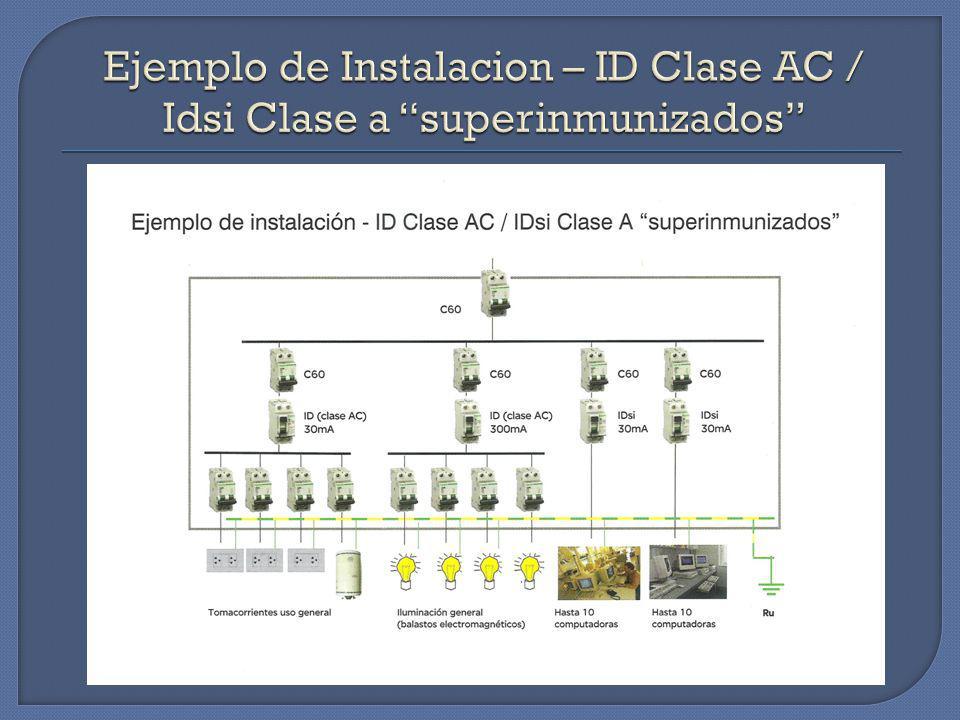 Ejemplo de Instalacion – ID Clase AC / Idsi Clase a superinmunizados