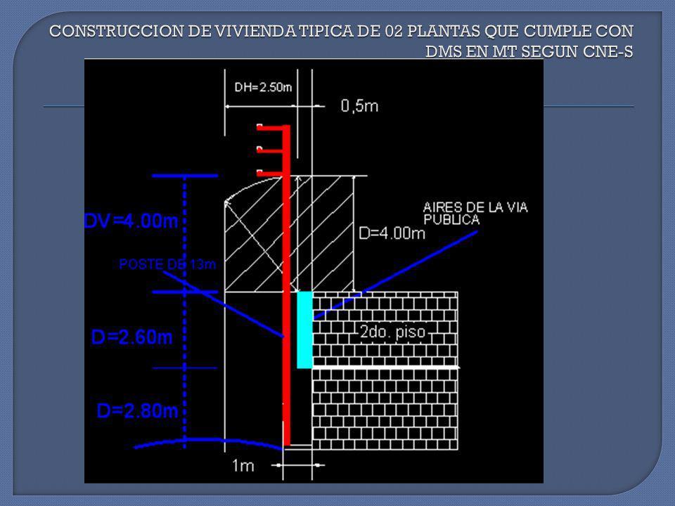 CONSTRUCCION DE VIVIENDA TIPICA DE 02 PLANTAS QUE CUMPLE CON DMS EN MT SEGUN CNE-S