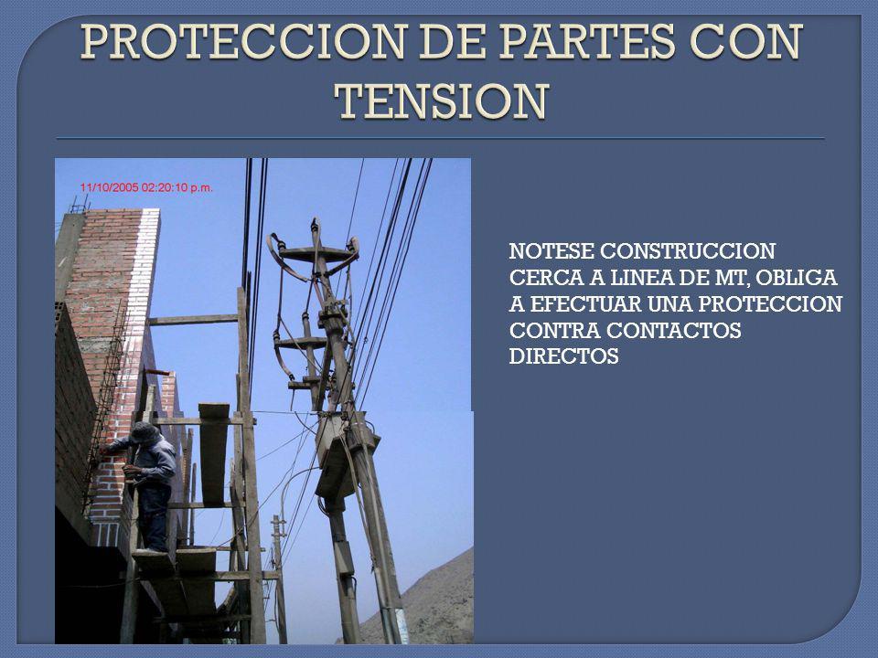 PROTECCION DE PARTES CON TENSION