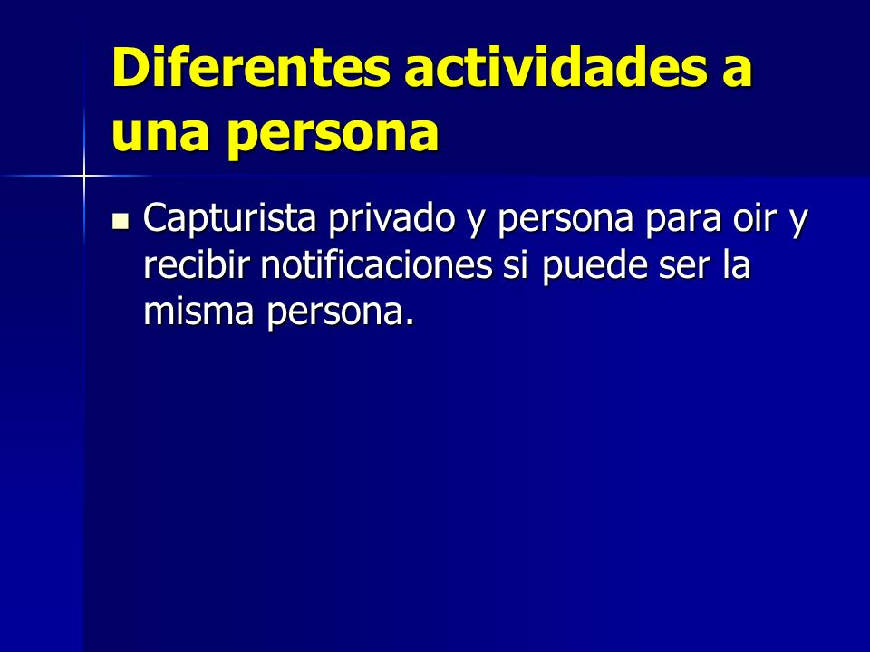 Diferentes actividades a una persona