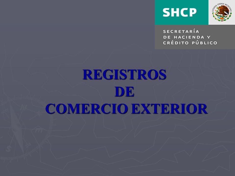 REGISTROS DE COMERCIO EXTERIOR