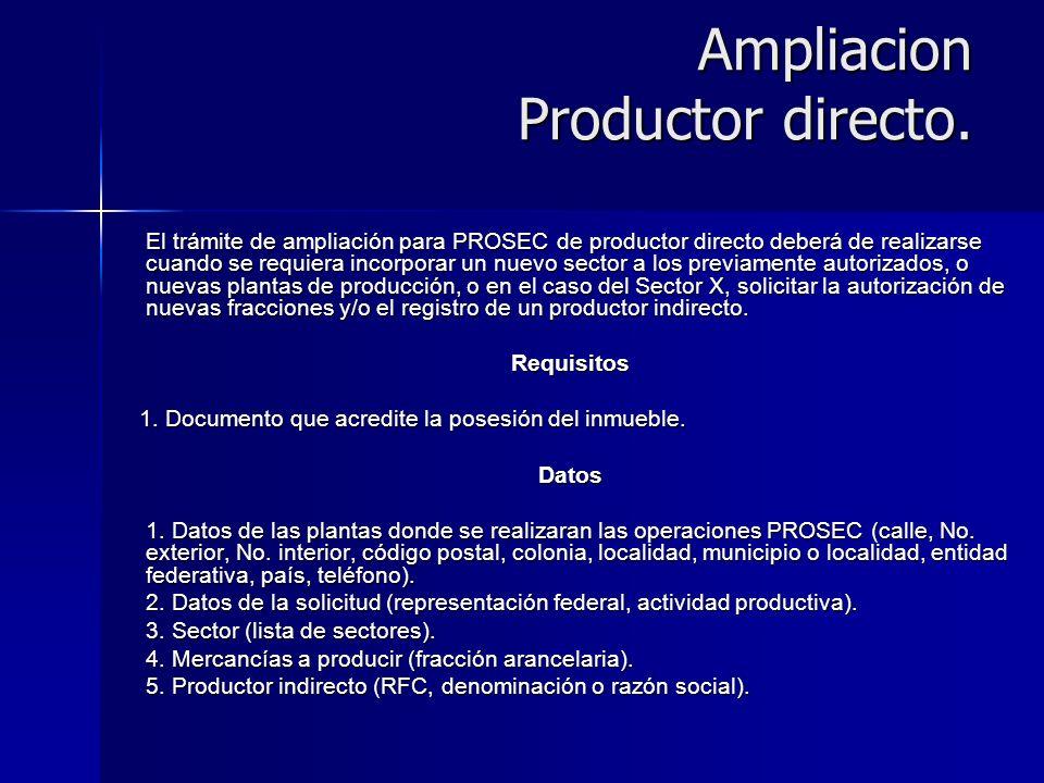 Ampliacion Productor directo.
