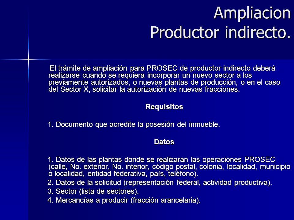 Ampliacion Productor indirecto.