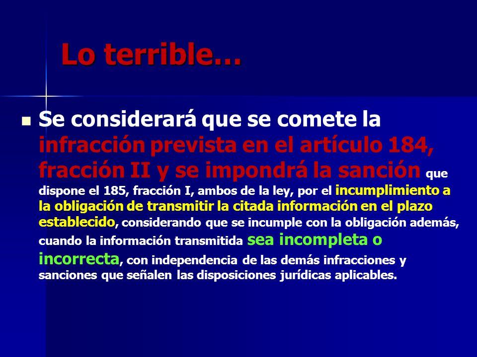 Lo terrible…