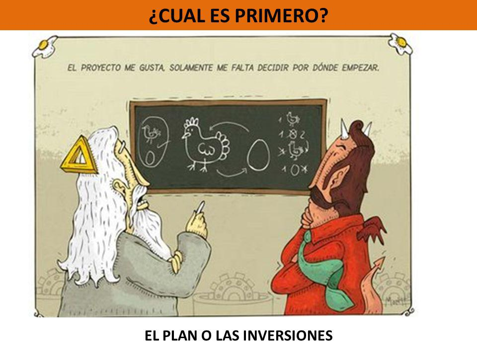 EL PLAN O LAS INVERSIONES