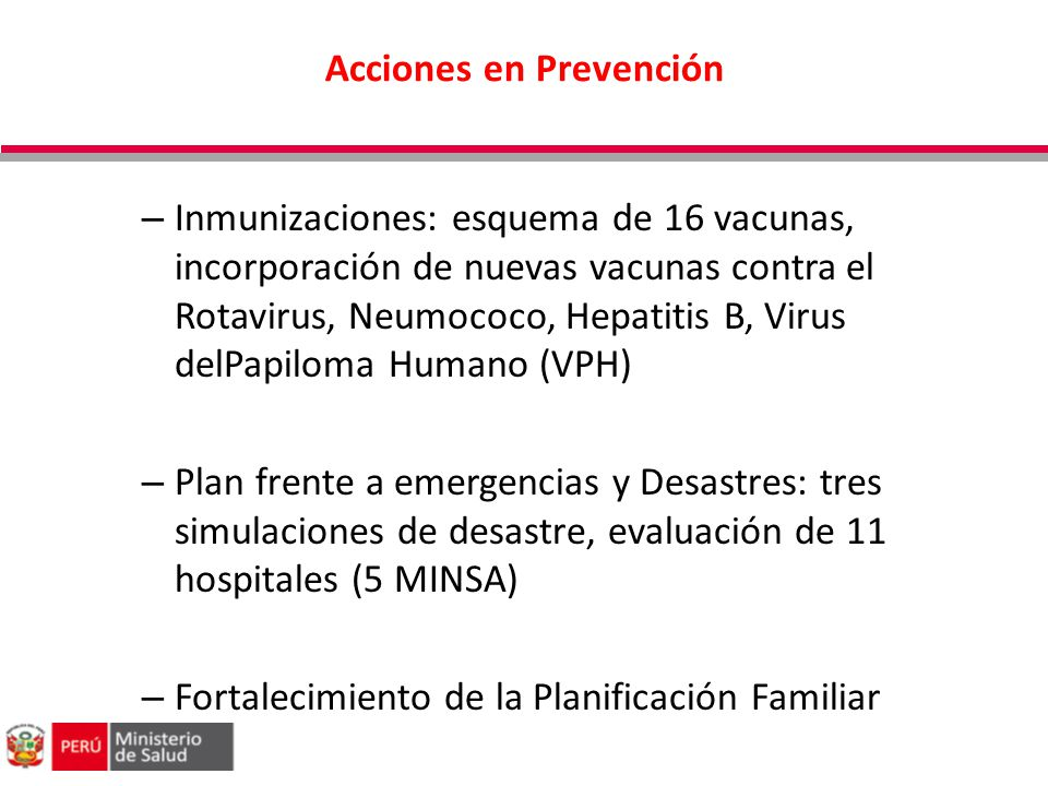 Acciones en Prevención