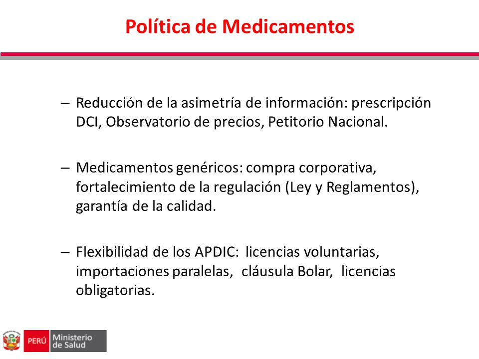 Política de Medicamentos