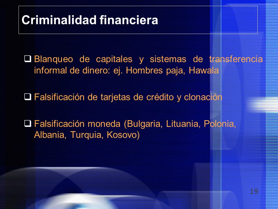 Criminalidad financiera