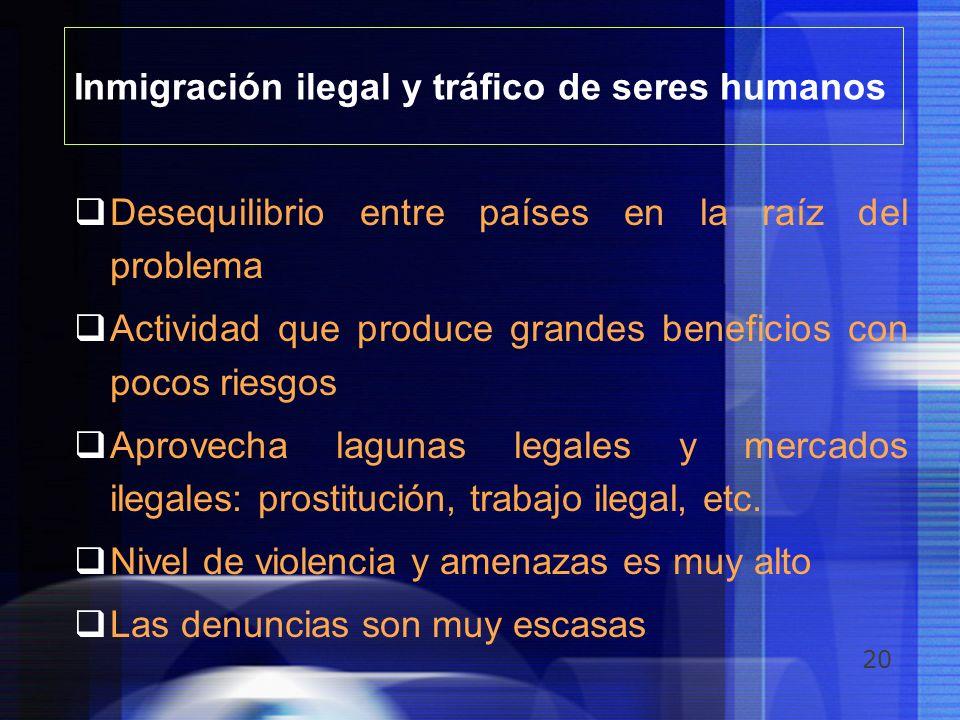 Inmigración ilegal y tráfico de seres humanos