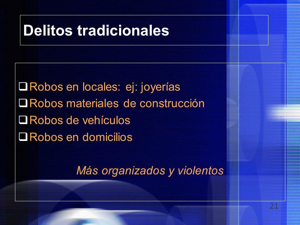 Delitos tradicionales