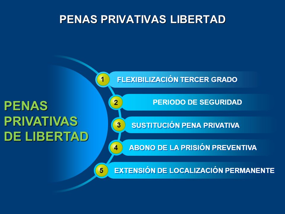 PENAS PRIVATIVAS LIBERTAD