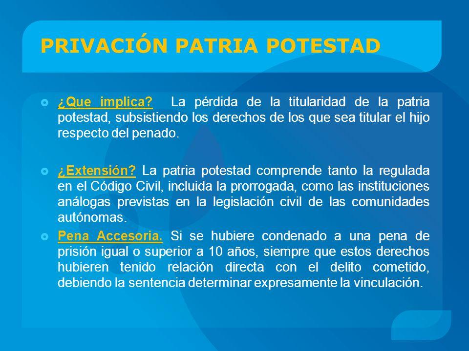 PRIVACIÓN PATRIA POTESTAD