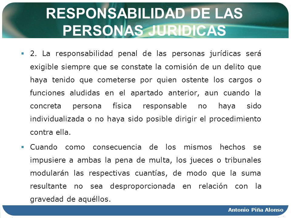 RESPONSABILIDAD DE LAS PERSONAS JURIDICAS