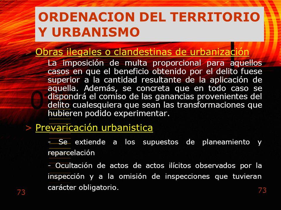 ORDENACION DEL TERRITORIO Y URBANISMO