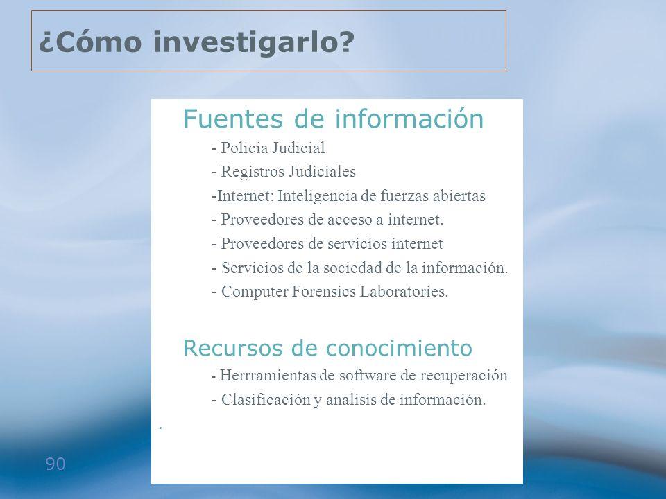 ¿Cómo investigarlo Fuentes de información Recursos de conocimiento